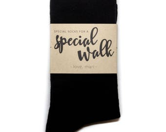 Wedding Day Gift for Dad | Special Walk Sock Label | Socks with Custom Sock Label | Bride's Gift to Grandfather on Wedding Day