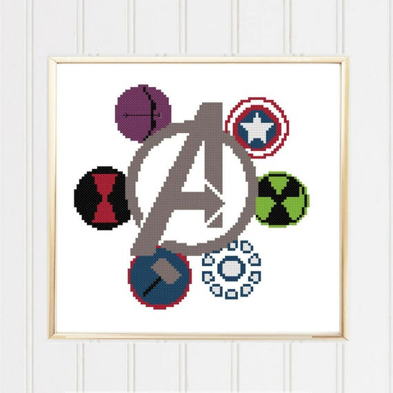 Avengers Cross Stitch Pattern Avengers Cross Marvel Cross