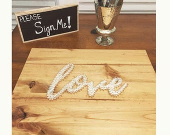 Wood String Art Love Wedding Guestbook/ Special Occassion Guestbook