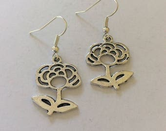 Flower earrings / flower jewellery / flower gift