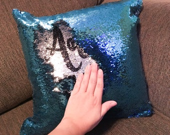 Mermaid Pillow - Sequin Pillow - Hidden Image Pillow - Custom Mermaid Pillow - Unique Christmas Gifts - Unique Decor - Unique Gifts for Her