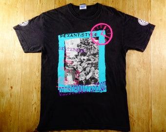 ON SALE! Vintage Hex Anti Style Skaterock Skateboard Big Logo Shirt