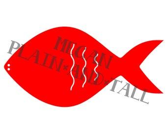 Banner Fish Cut File Digital Download