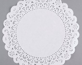 "16"" 25PCS White Paper Lace Grease Proof Doilies, Paper Doilies, Doily, Lace Doily, Lace Doilies, Grease Proof Doilies, White Lace Doily"