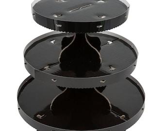 1 PC 3 Tier Black Disposable Cupcake Display, Cupcake supplies, Cupcake stand, Cupcake display, Cake Display, Cake stand, party supply, cake