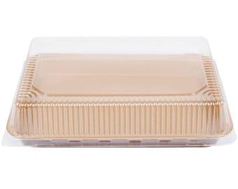 "1PC 9""x13"" Bake Corrugated Kraft Sheet Pan With Lid, Bake Pan, Kraft Bake Pan, Baking Pan, Kraft, Baking, Cake, Kitchen Supplies, Party"