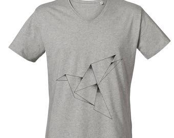 Origami V Neck T-shirt