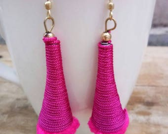 Jewellery, Earrings, Drop Earrings, Thread Earrings, Tassel Earrings, Handmade Earrings, Thread Earring, Dangle Earrings, Handmade Earring