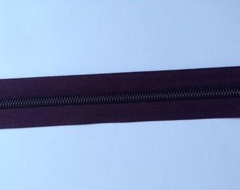 30 cm separable purple plum color zipper