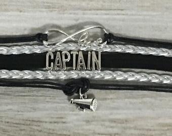 Cheer Captain Bracelet- Cheer Captain Gift - Cheerleading Captain Gift -Cheerleading - Cheer-  Cheer Jewelry Perfect Gift for Cheer Captains
