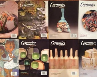 Ceramics Monthly Magazines - 8 Issues from 2008