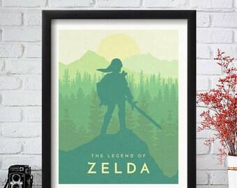Zelda Poster, Legend of Zelda Poster, Zelda Art, Nintendo Printable, Zelda Print, Link Poster, Mario Poster, Samus Art, Zelda