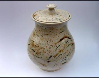 Ceramic Lidded Jar, Biscuit Barrel, Flower Arranging, Large Jar, Heavy Jar, Centre Piece, Decorative Jar, Vase, Floral Arrangements, Urn