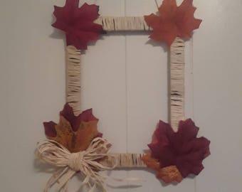 Frame style fall wreath