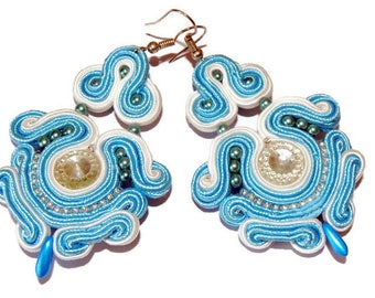 Heavenly, long earrings, earrings soutache them wear earrings big