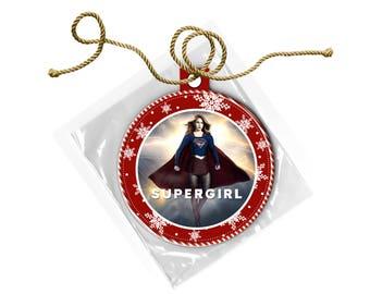 Supergirl Melissa Benoist Christmas Ornament