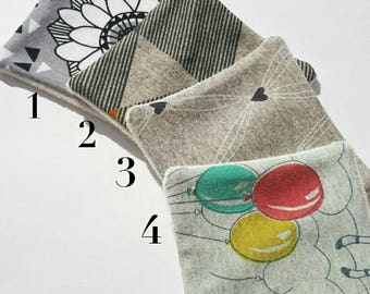 Set of 15 cotton washable organic cotton and bamboo pattern