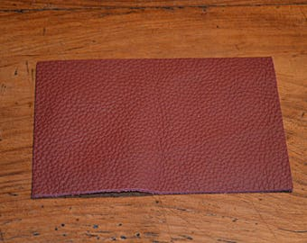 Coupon of leather genuine leather Burgundy (9489233)