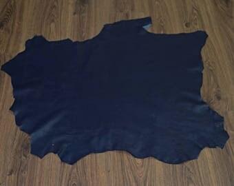 Leather skin of lamb nappa navy blue (2017081024)