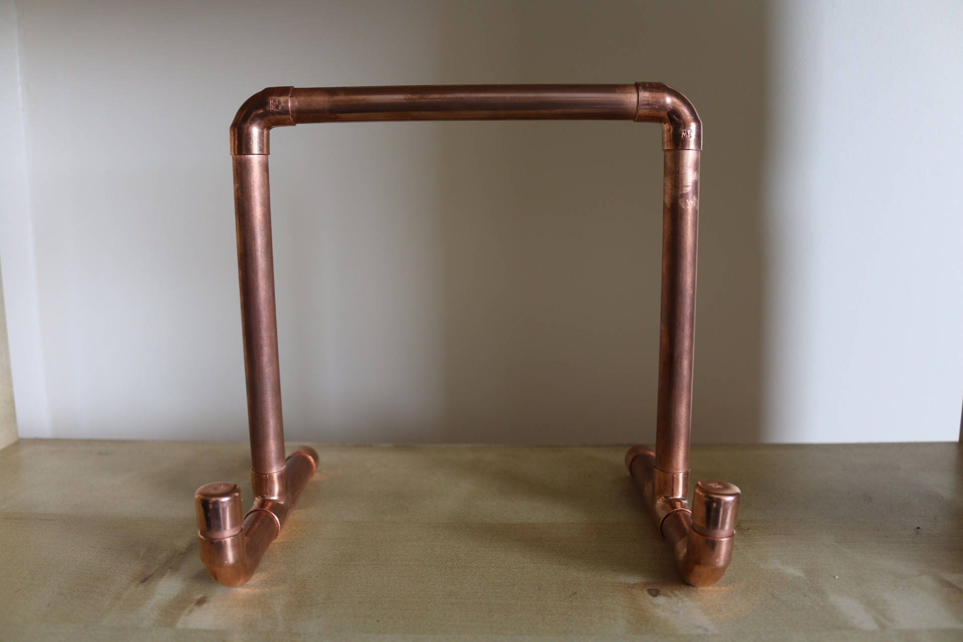 copper pipe tablet ipad book holder