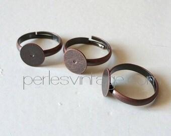 Set of 4 ring holders adjustable color copper