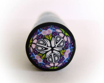 Polymer clay cane, Kaleidoscope cane, Raw polymer clay, unbaked cane,supplies for jewelers,nail art cane, clay supply,handmade cane,jewerly