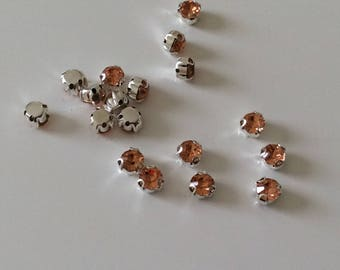 Set of 15 rhinestones 3 d Crystal setisse sewing 6 mm