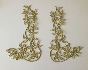 Embroidery with metallic gold high quality