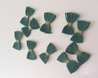 Bow tie pleated 3 * 2 cm color green