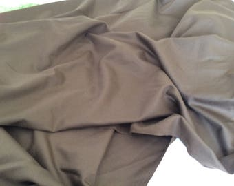 Khaki wool couture 150 wide