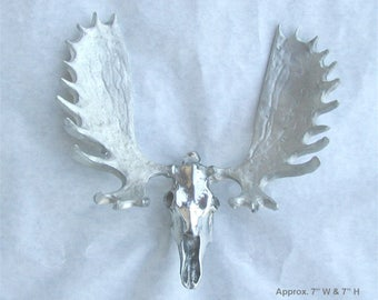 Pewter Moose skull & antler rack