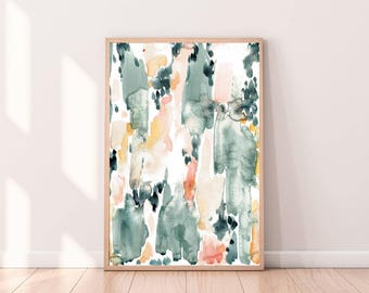 Exceptionnel Pastel Abstract Watercolor, Abstract Print, Instant Download Art, Printable  Watercolor Art,Neutral