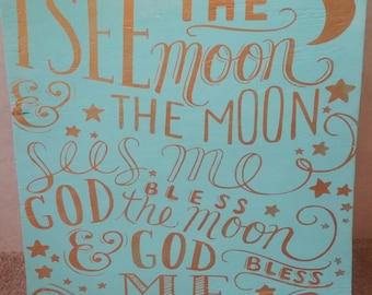 I See The Moon Etsy