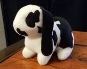 Custom luxe fleece bunny plush for Rebecca