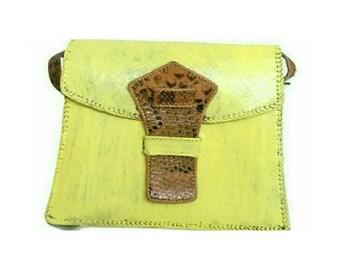 Vintage Snakeskin Leather Shoulder Bag Upcycle (3032)