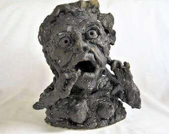 Maggie/Female bust/Wacky sculpture/garden sculpture/comic sculpture