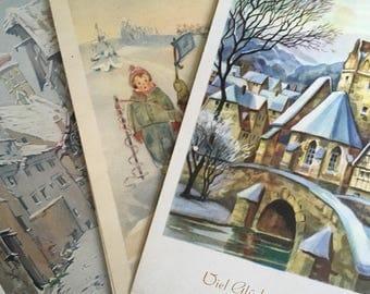Vintage German postcard. Christmas postcards. Postcard from Berlin. Vintage Christmas