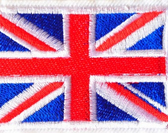 Union Jack patch Thermo 6.5 cm England flag embroidered badge