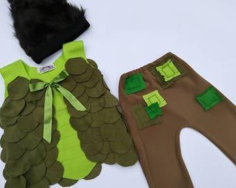 Branch Trolls costume Birthday party Branch Trolls Halloween Costume Smidge and Branch  Branch dress up Trolls dress up Handmade costume