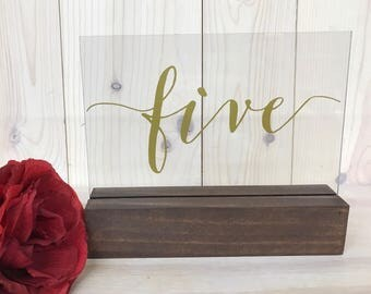 Wedding Table Numbers // Table Numbers // Acrylic Table Numbers // Clear  Table