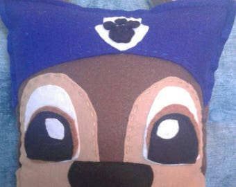 Chase from Paw Patrol! Get the police dog inspired by the cartoon! Stuffed dog pillow plush