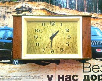 Fireplace clock. Classic. Traditional. Office Decor. Table clock. Gift for her him. Birthday present. Vintage USSR. Watches Large. Antiques
