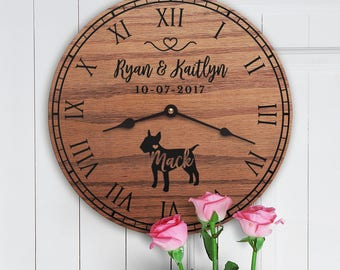 Gift for the Home of Couple with Bull Terrier - Personalized Bull Terrier Gift - Bull Terrier Dog Parents - Custom Dog - Bull Terrier Lovers