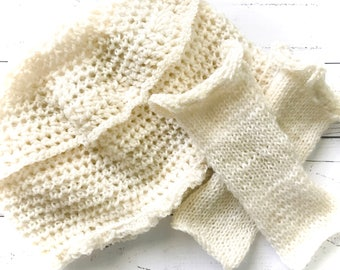 Hat Set,Winter White hat set,fingerless gloves,crochet,knit,pillbox hat,sparkle hat set,off white,Fall,Winter,Holiday,hat and glove set,