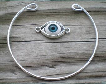 Evil Eye Bangle Kit, Bangle Bracelet, Do It Yourself Jewelry