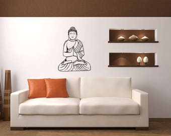 Meditating Buddhist God Home and Family Vinyl Wall Decal