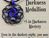 Darkness Medallion - help a friend fight depression - Vortex chainmail, roleplaying games, dongeons and dragons, Magic the Gathering