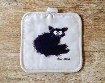 Cat Tommy kitchen pot holder