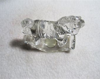 Princess House Lead Crystal Treasures Rocking Horse Figurine