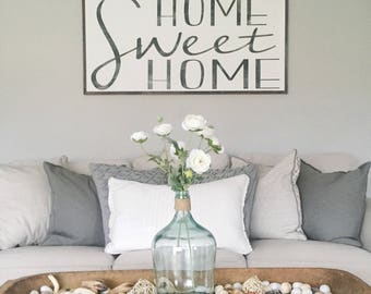 Home Sweet Home  Home Wood Sign  Large Wood Sign Extra Large Wood Sign